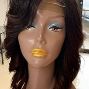 100% Virgin Hair Closure 12in Custom Ombré Color Wig