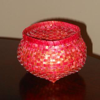 Red Paper Basket