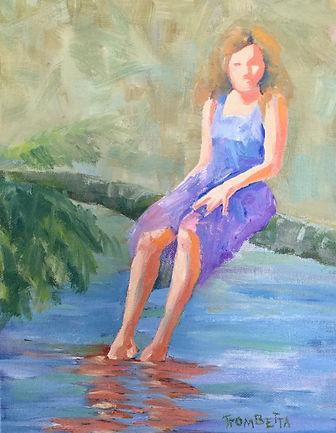 Girl in Lavendar Dress