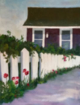White Fence Purple House