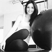 Foto da instrutora de pilates