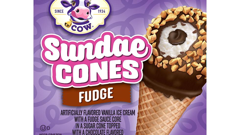Small Purple Cow Fudge Cones