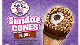 Large Purple Cow Fudge Cones