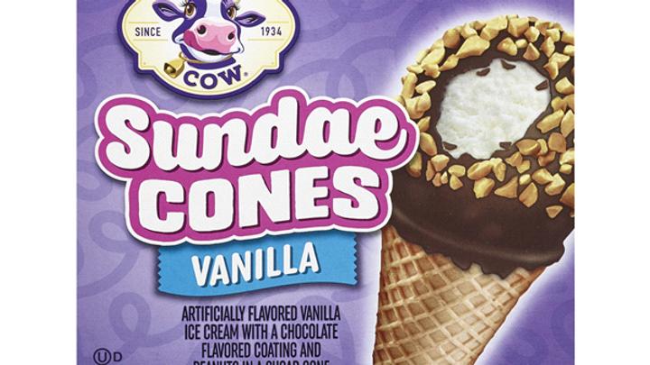 Small Purple Cow Vanilla Cones