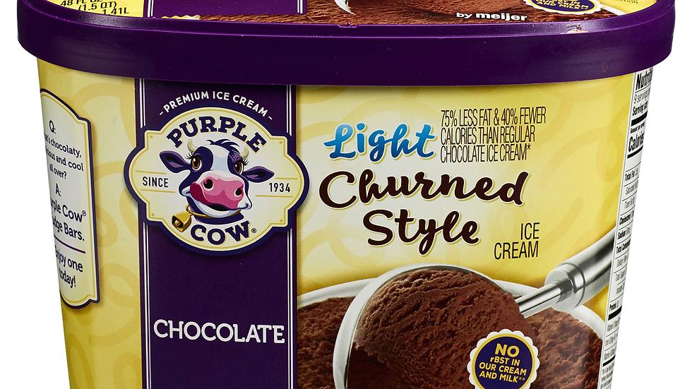 Large Light Churned Style Chocolate