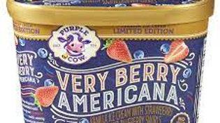 Purple Cow Limited Edition Very Berry Americana Ice Cream