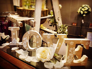 Woden vintage LOVE letters free standing item