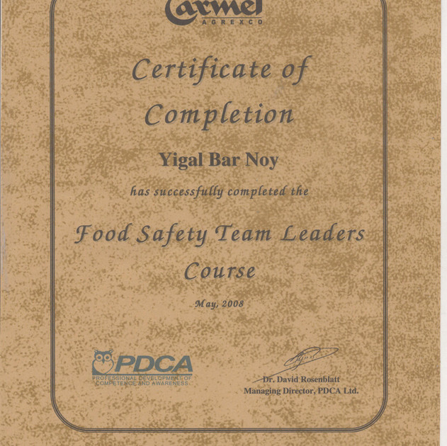 PDCA  FOOD SAFETY TEAM LEADERS COURSE.jp