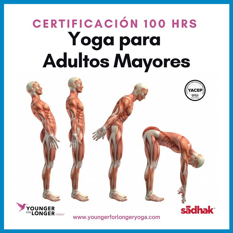 Certificación en Yoga Restaurativo c/especialidad en personas mayores o movilidad limitada. Semipresencial ó 100% online
