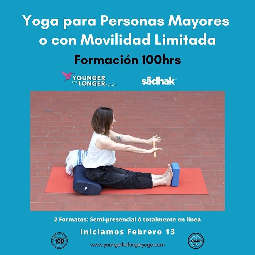 Certificación en Yoga Restaurativo c/especialidad en personas mayores o movilidad limitada. Semi-presencial ó 100%Online