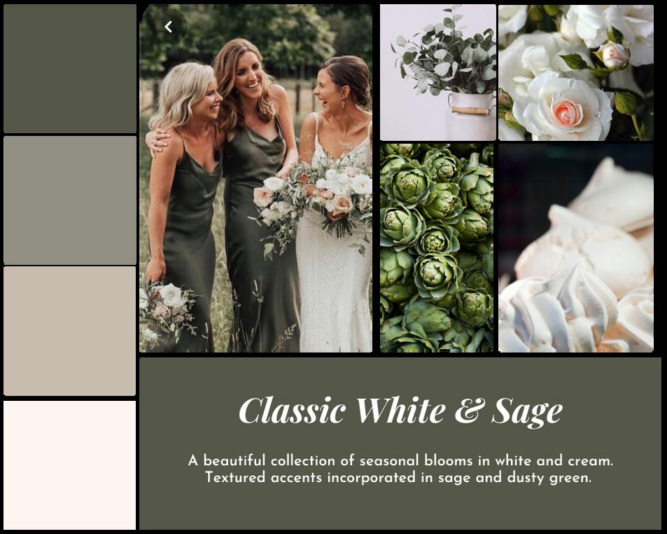 Classic White & Sage