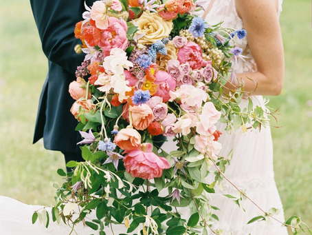 What's with those HUGE wedding bouquets??