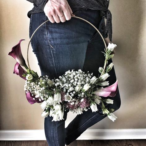 Trendy Hoop Bouquet