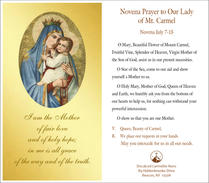 Novena for the Feast of Our Lady of Mount Carmel