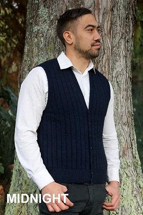 Men's Rib Vest w Buttons (9829)