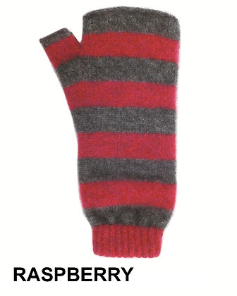 Directional Stripe Fingerless Glove (9885)