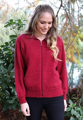 Plain Zip Sweater w Pockets (9976)