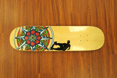 "8"" mandala skateboard deck"
