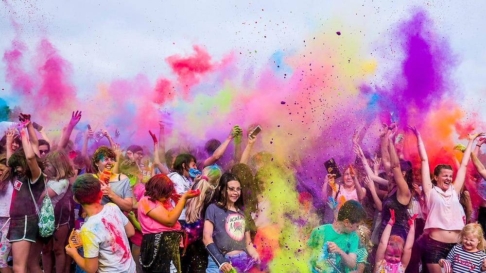 Explosion de joie colorée : Mon état lorsque j'ai appris que j'étais enceinte !