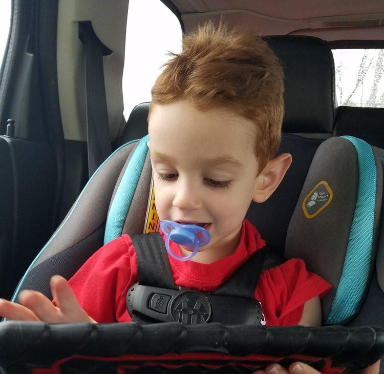 Aidan and His iPad