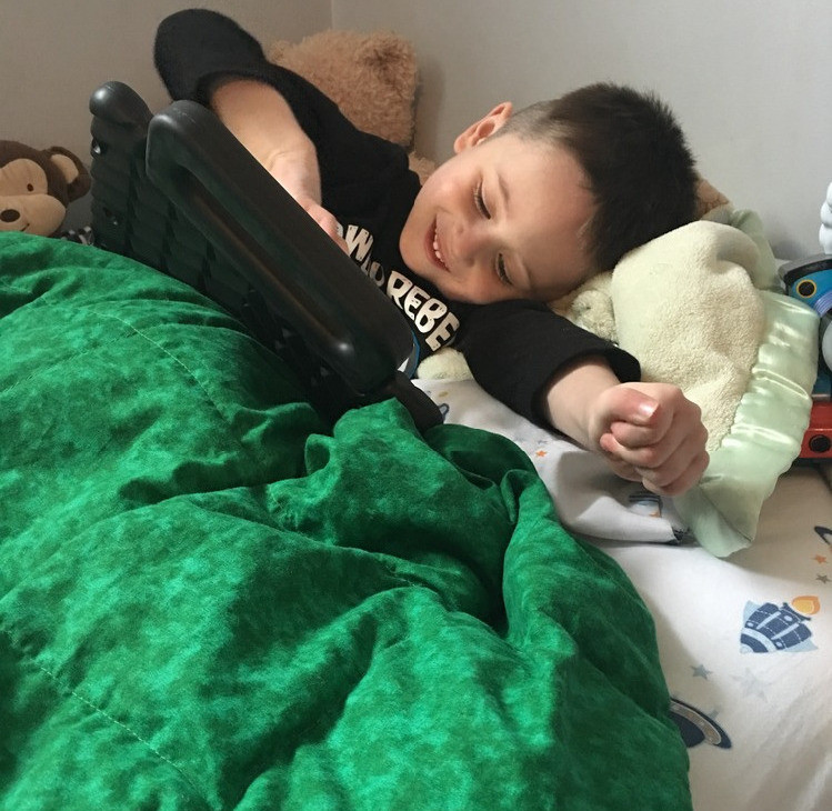 Nikolai's Weighted Blanket & iPad