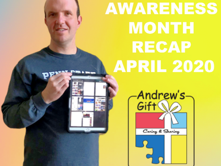 Autism Awareness Month RECAP: April 2020