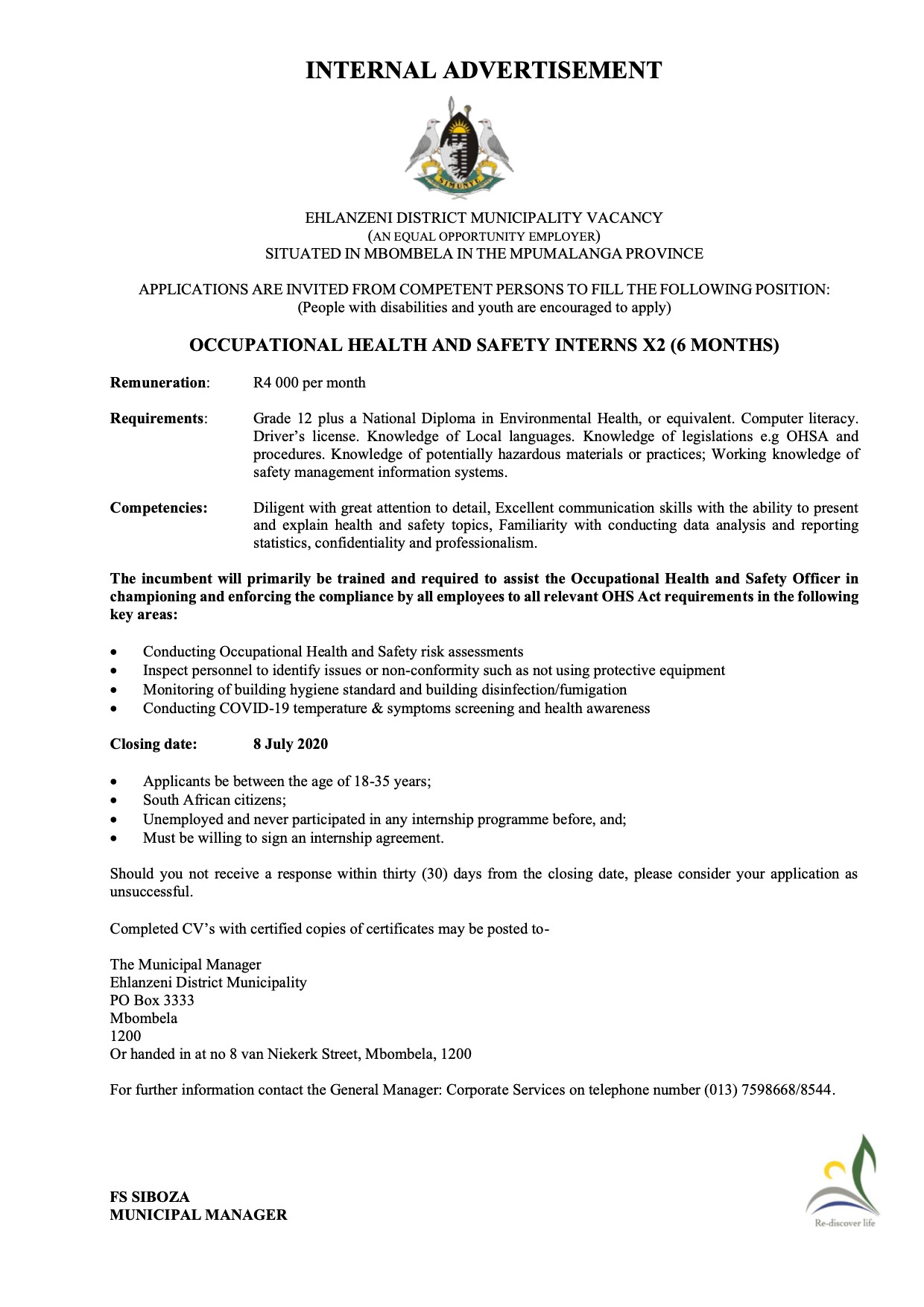 Advert - OHS intern 6 months copy.jpg