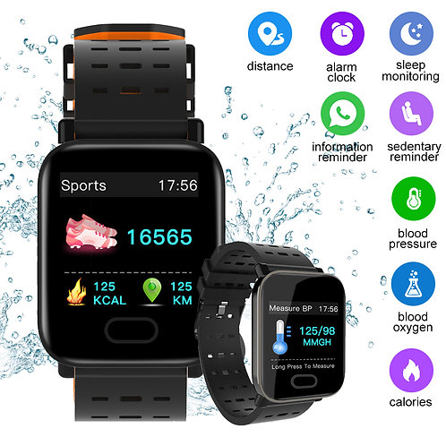 Waterproof Blood Pressure Monitor Medical Smart Wrist Watch