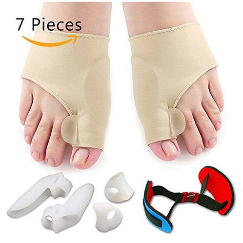 7pcs Hallux Valgus Corrector Orthopedic Bunion Corrector Silicone Socks