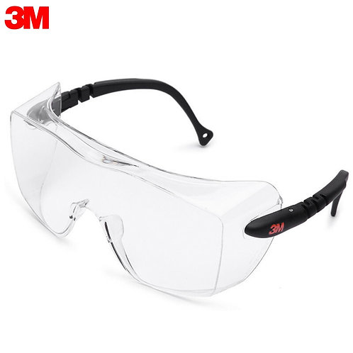 3M 12308 Clear Glasses Anti-Fog Safety Goggle Eyewear for Eye Protection