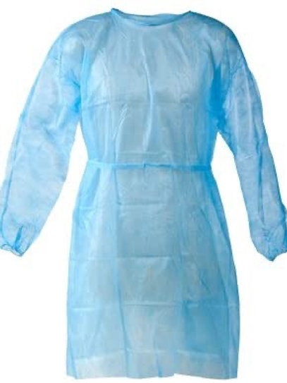 Disposable hospital/isolation gown