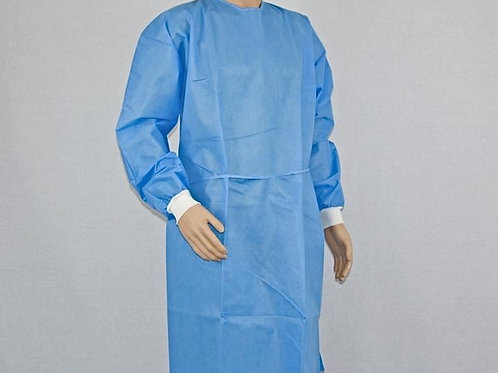 Disposable Surgical Gown Polypropylene Fabric 50GSM 100% Water and Blood Proof