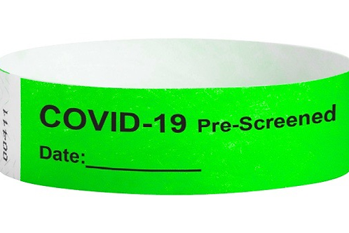 Screening Wristbands (pack of 100)