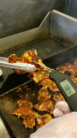 Doing it right. Check that final cook temperature!