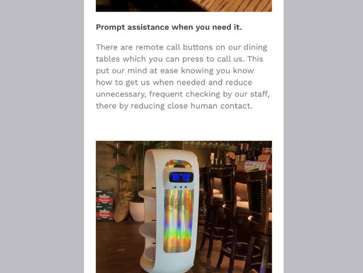 C-19 Food Safety - Robot Waiter