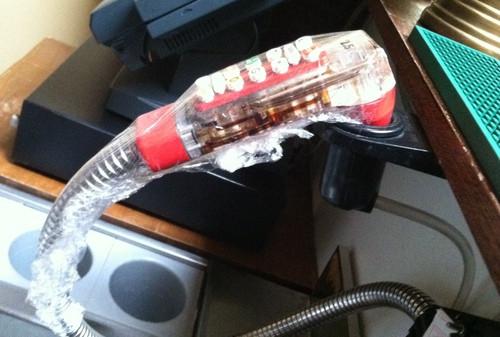 Doing it right. Soda Gun Wrap- Reducing Gnats