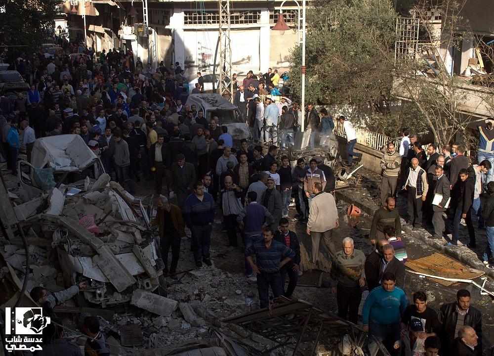 تفجير الملعب البلدي في حمص في ٢ كانون الأول ٢٠١٢