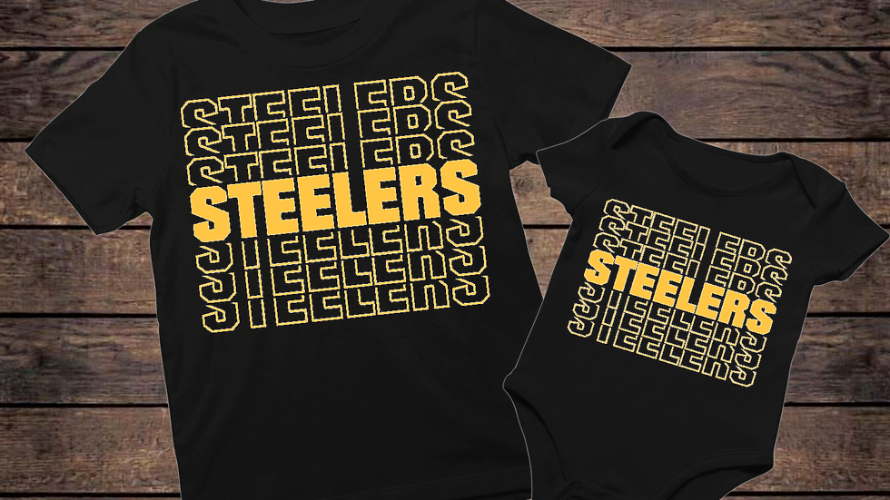 Father's Day Steelers T-Shirt& Onesie Set