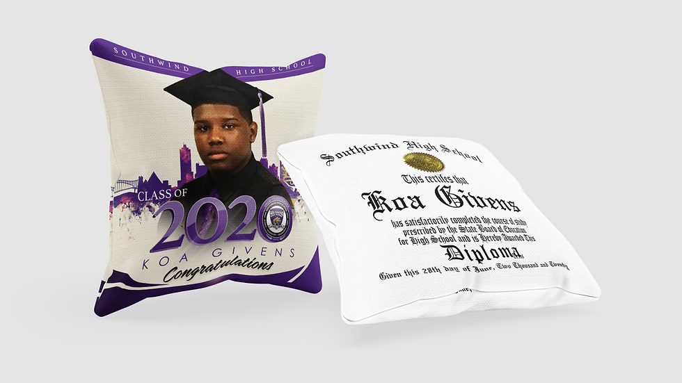 Graduate 2020 Diploma Pillow