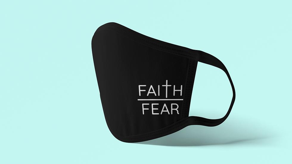 Faith Over Fear Corner Face Mask