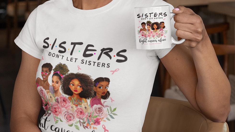 Sisters Breast Cancer Mug and T-Shirt Set