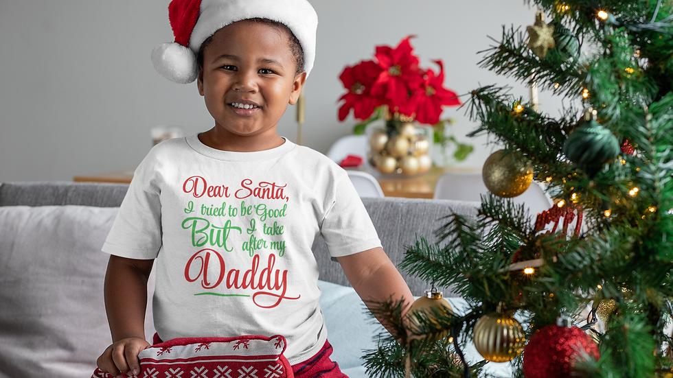 Dear Santa I Tried To Be Good Christmas T-Shirt