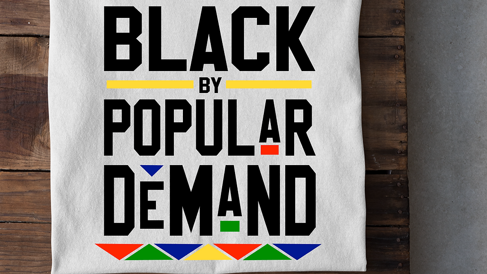 BLACK By Popular Demand Tee-White