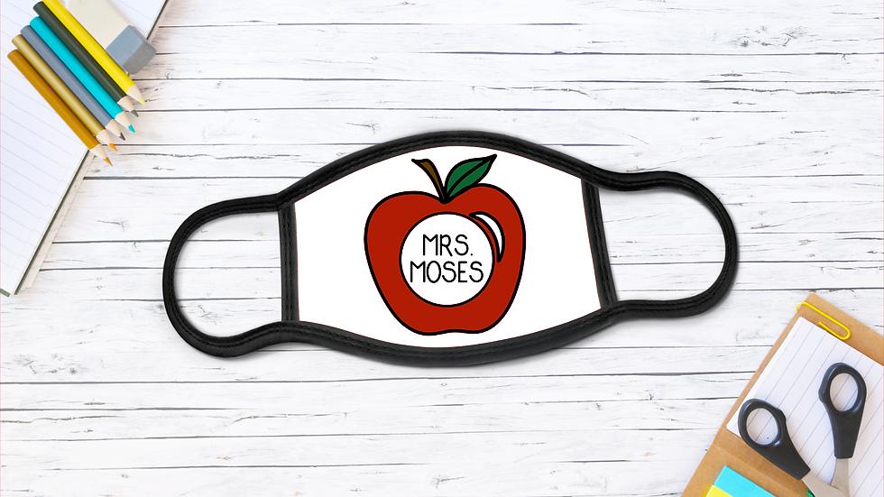 An Apple A Day Teacher Mask