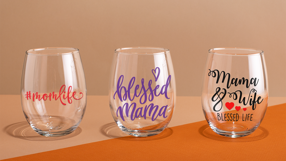 Mother's Day Wine Glasses