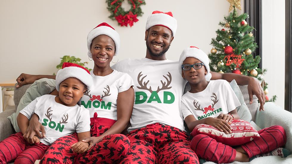 Reindeer Family Christmas T-Shirt