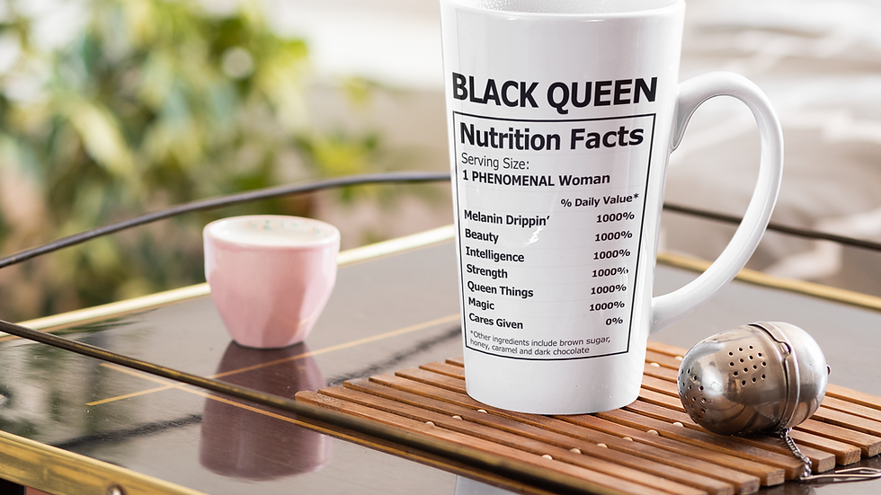 Black Queen Latte Mug