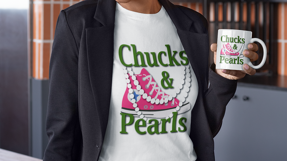 Chucks & Pearls Pink & Green Edition