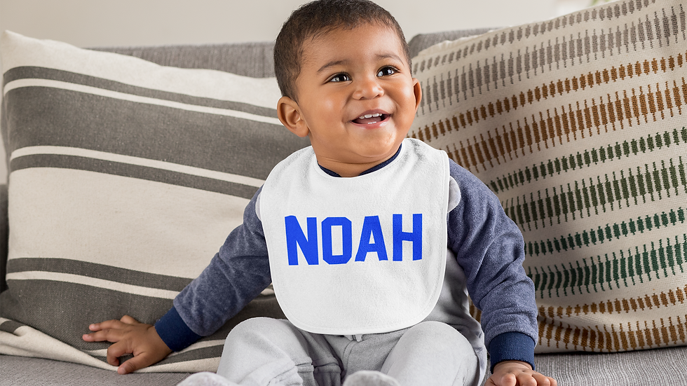 Baby Boy Name Bib