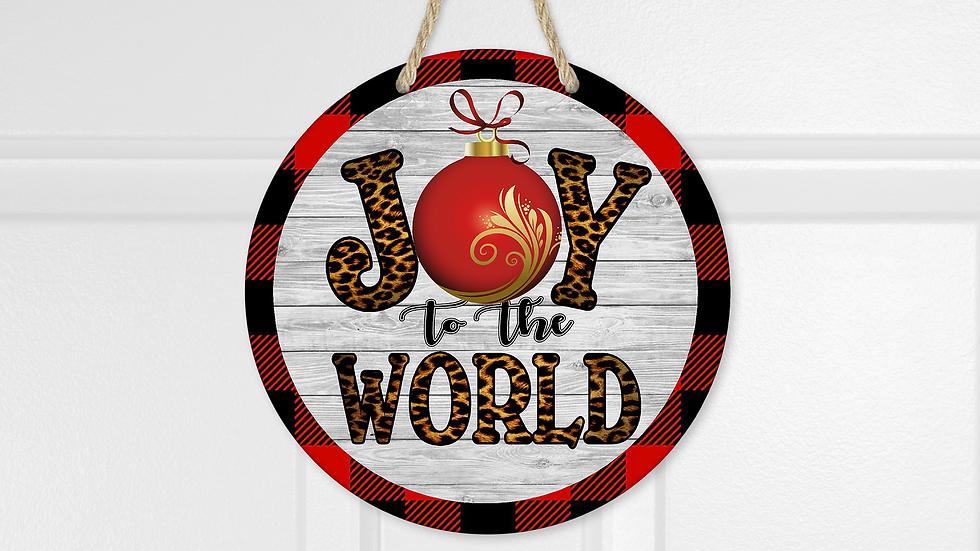 Joy to the World Christmas Door Hanger
